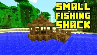 Minecraft: How To Build A Fishing Shack | Small Survival Hut | Xbox, Ps3, Ps4, Mcpe