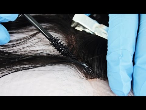 How To Dye A Closure Using A Mascara Wand | Step By Step Tutorial