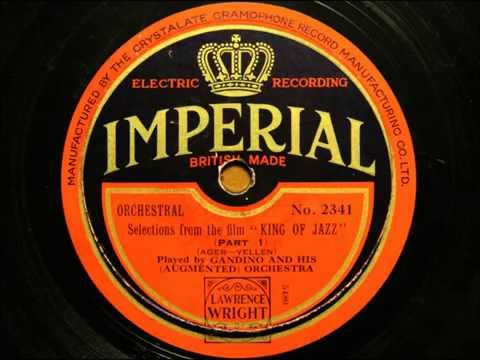 """Selection from """"The King of Jazz"""" played by Mantovani's orchestra"""