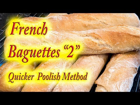 "French Baguette ""The quicker poolish method"""