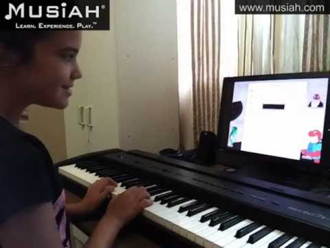 Piano Video Online Piano Lessons Song #22 Go Tell Aunt Rhody played by Isabella
