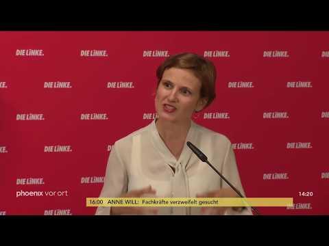Pressekonferenzen der Parteien zu den Ausschreitungen ...