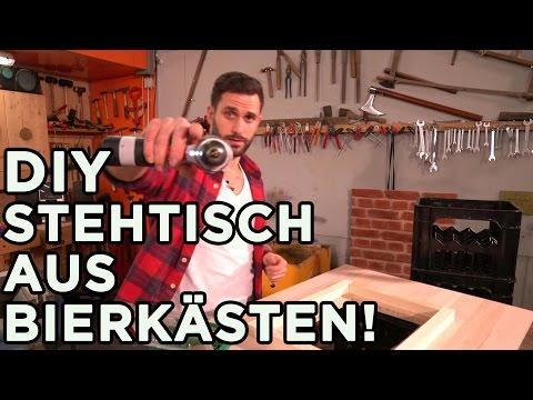 Stehtisch aus BIERKÄSTEN! – Super einfaches DIY