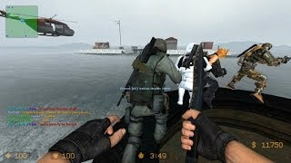 Counter Strike Source Zombie Escape mod online gameplay on ze_icecap_escape_v5 map
