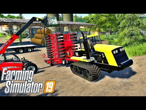 US Flatbed trailer Auto loads bales v1.0