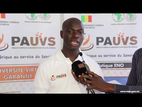 Caravane PAUVS étape Ziguinchor - Mr DIALLO Directeur des Espaces Numériques Ouverts de l'UVS