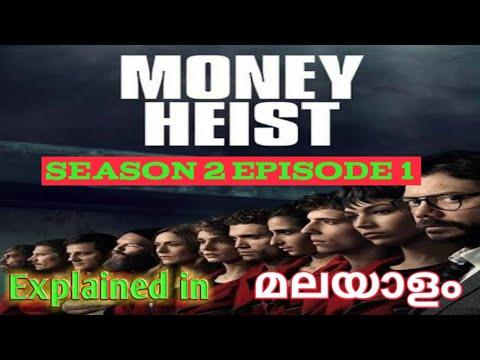 Money Heist Season 2 Episode 1 Explained In Malayalam/Web series/malayalam/REVEAL TIMES