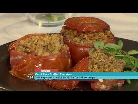 Jungle - Oat and Tuna Stuffed Tomatoes