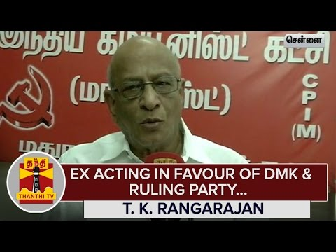 Election-Commission-acting-in-Favour-of-Ruling-Party-and-DMK--T-K-Rangarajan--Thanthi-TV