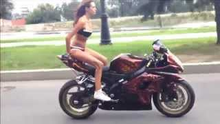 This Russian Girl Really Owns The Motorbike