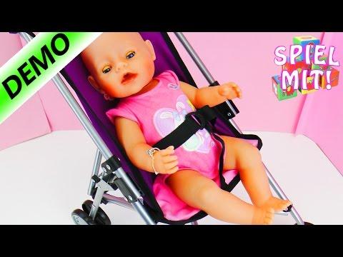 Kinder Puppen Buggy von Bayer | cooler Kinderwagen für Baby Born, New Born Baby und Kuscheltiere