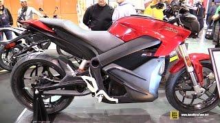 8. 2016 Zero SR ZF13.0 Max Performance Electric Bike - Walkaround - 2015 EICMA Milan