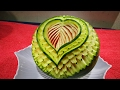 Watermelon Carving  flower - Fruit art Cutting Design garnish