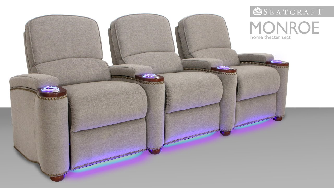 seatcraft monroe theater furniture theater seating 4seating - Home Theater Seating Design Ideas