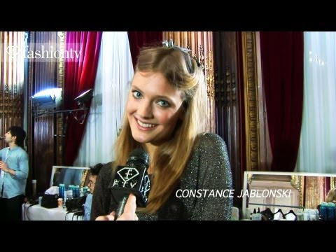 Constance Jablonski - SUBSCRIBE: http://bit.ly/SubscribeFTV http://www.FTV.com/videos PARIS - We're backstage at the Zuhair Murad show where models like Melissa Tammerijn and Mirt...