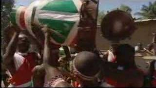 The tradition of beating the heavy drums made of thick wood goes back centuries in Burundi (Central Africa) and is accompanied...