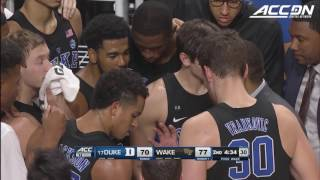 Grayson Allen Incident at Wake Forest