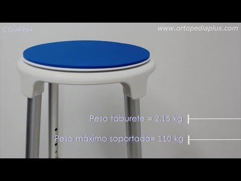 Taburete giratorio para baño