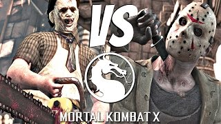 Mortal Kombat X - Jason Voorhees Vs. Leatherface (Chainsaw Massacre) Gameplay Fatality [1080p 60fps]