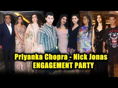 Priyanka Chopra - Nick Jonas Engagement Party | FULL VIDEO | Bollywood Celebs