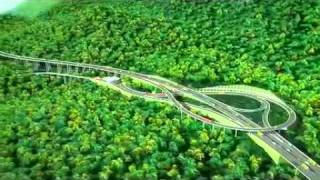 Xichang China  City pictures : Ya'an - Xichang Highway (part of China G5 Interstate) animation demo 雅西高速公路