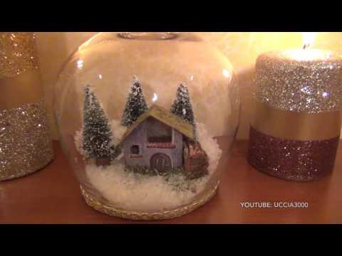 decorazioni natalizie - portacandele fai da te