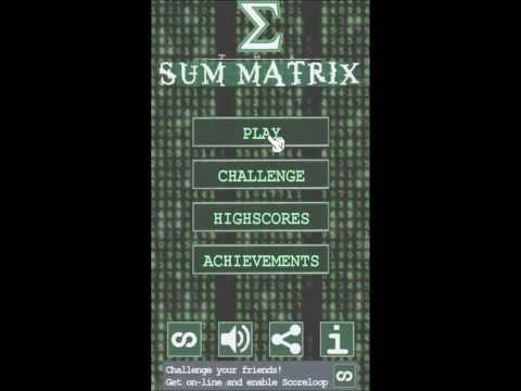 Video of Sum Matrix Numbers Puzzle