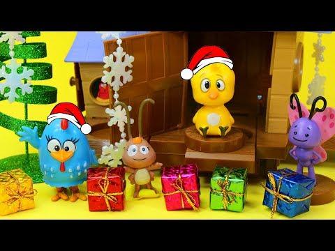 Vídeos engraçados - Galinha Pintadinha de Natal no Galinheiro Pintinho Amarelinho Brinquedos Surpresas Presentes