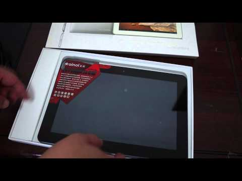 Ainol Novo 10 Captain Quad Core Tablet PC unboxing Review - World Premiere!