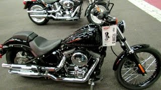 7. 2012 Harley-Davidson Softail Blackline at 2012 Montreal Motorcycle Show