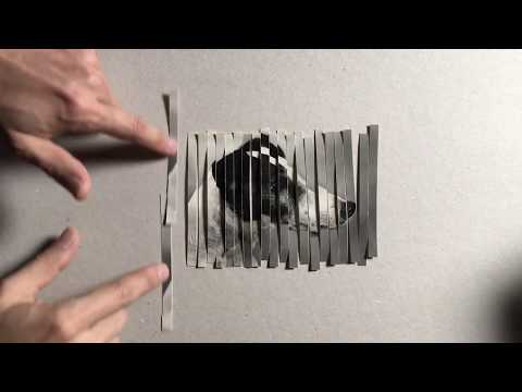 Artist Blows Minds With Paper Shredding Trick