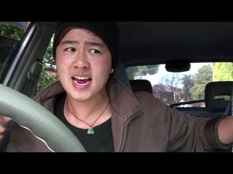 Driving in cars with Asians.