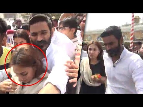 Hero Dhanush Irritated By Fans At Thirumala | Dhanush With His Family | TFPC