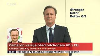 Cameron varuje před odchodem Velké Británie z EU