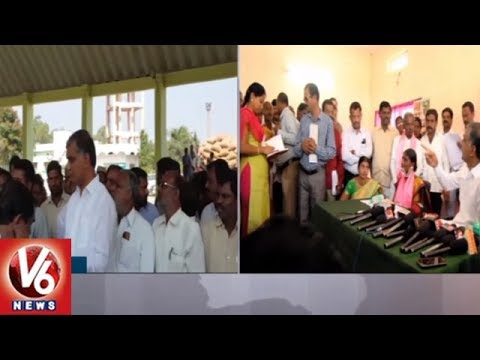Minister Harish Rao Serious On Shadnagar Agriculture Market Officials || V6 News
