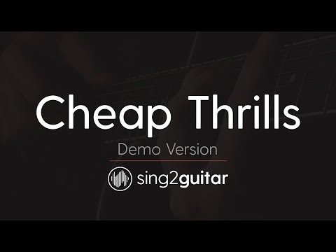 Cheap Thrills (Acoustic Guitar Karaoke Demo) SIA