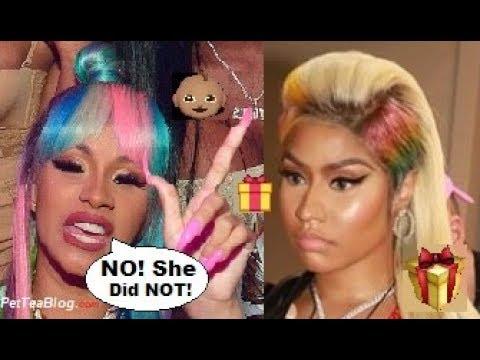 Cardi B Confirms Nicki Minaj Did NOT Buy $5000 Gift Basket for Kulture 🎁❌