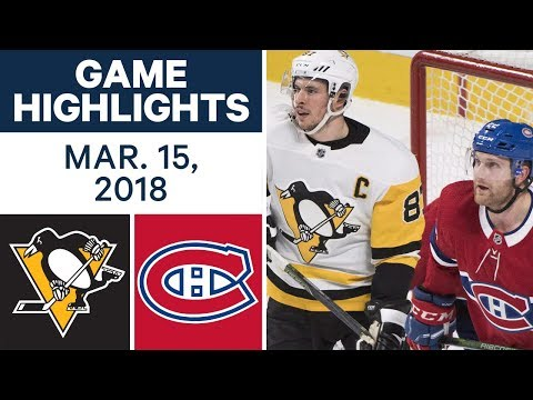 Video: NHL Game Highlights | Penguins vs. Canadiens - Mar. 15, 2018