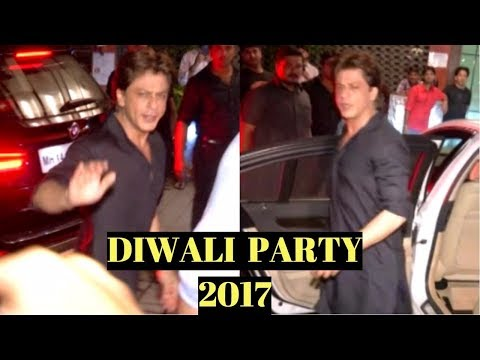 Shah Rukh Khan At Arpita Khan's Diwali Party 2017