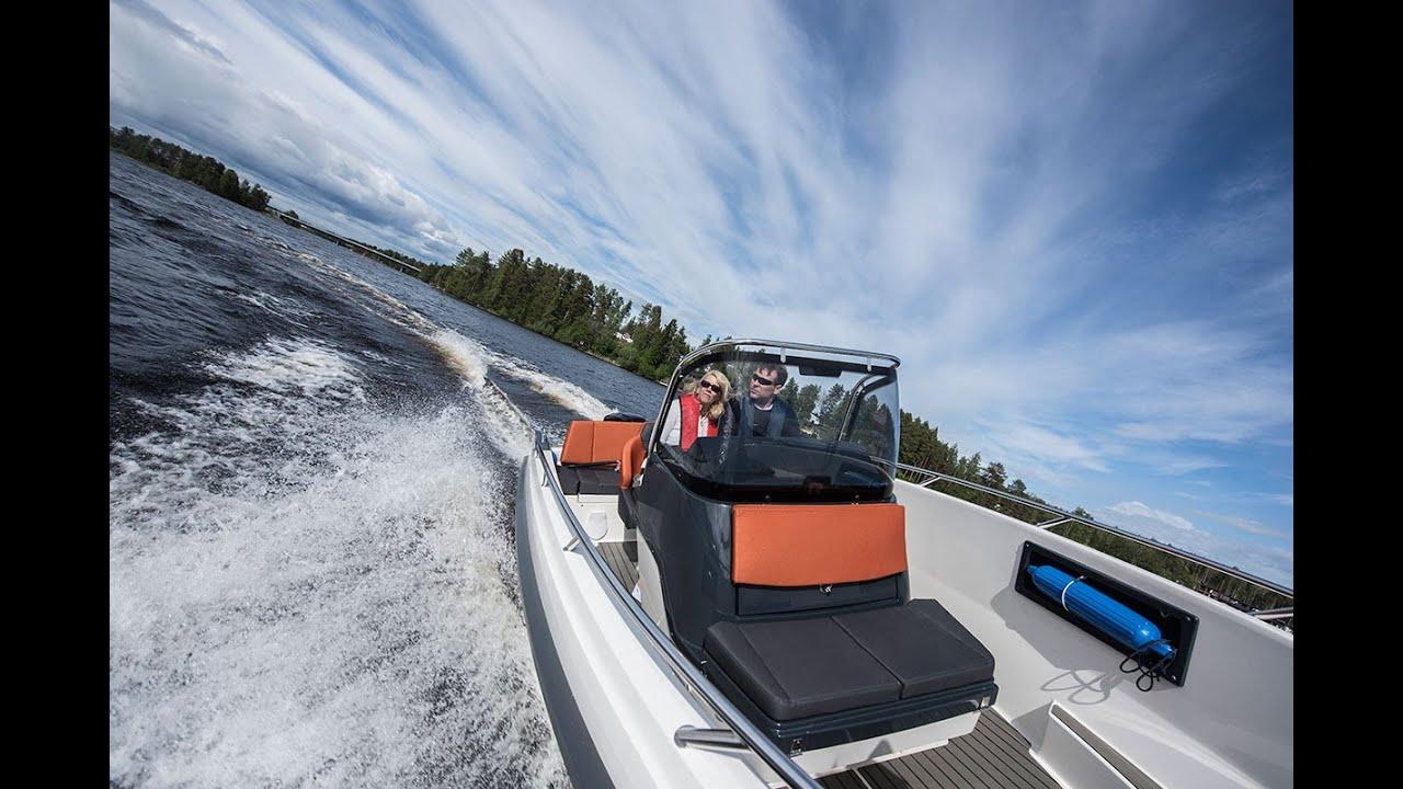 Финский открытый катер Bella 600 R для морской рыбалки, охоты и отдыха на воде. Моторный катер позволит насладиться скоростью и комфортом.