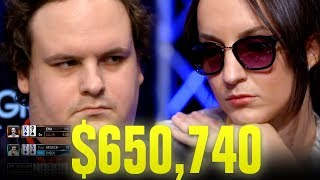 Video She BLUFFS ALL-IN With $650,740 At Stake! - Very Cool Poker Hand MP3, 3GP, MP4, WEBM, AVI, FLV Maret 2019