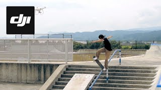 Watch three professional Japanese skaters tear up their skate park in preparation for the 2020 Olympic Games in Tokyo. Shot entirely with DJI products like the Phantom 4 and Osmo this short film captures this burgeoning extreme sport from inspiring new perspectives. Get the Phantom 4 Advanced here: http://bit.ly/SkateP4AGet the Osmo+ here: http://bit.ly/SkateOsmoPGet the Osmo Mobile here: http://bit.ly/SkateOsmoSubscribe: http://www.youtube.com/user/djiinnova...Like us on Facebook: https://www.facebook.com/DJIFollow us on Twitter: http://www.twitter.com/DJIglobalFollow us on Instagram: http://www.instagram.com/DJIglobalWebsite: http://www.dji.com/