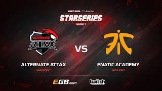 ALTERNATE aTTaX vs fnatic Academy, map 3 cache, SL i-League StarSeries Season 3 Europe Qualifier