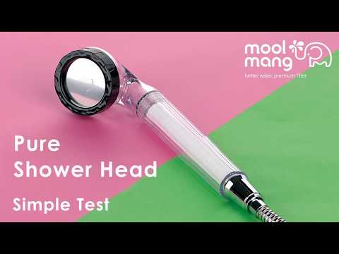 Moolmang Pure Shower Head, Removes rust & Contaminants, High Pressured, Silky Shower, Water Saving