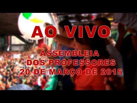 Assembleia dos professores transmitido ao vivo em 20 de março