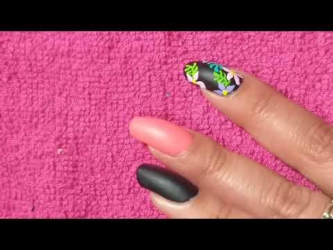 Decoracion de uñas - Decoración De Uñas  Efecto Mate y Cristales