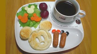 Mickey Mouse Shaped Toast