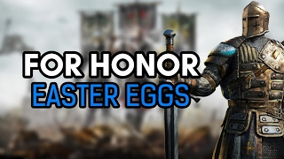"""For Honor Easter Eggs, here is what I know of so far, was trying so hard to find an Assassin's Creed reference but I proved to be unsuccessful but Hope you Enjoy!Subscribe and Hit the Notification Bell to Keep up to Date with When I Upload!►Subscribe to me here!: http://www.youtube.com/subscription_c…►Follow me on Instagram: https://www.instagram.com/o_knightz_o/ ►Check out Other Easter Egg Here!: https://www.youtube.com/playlist?list=PLud5z0-p8XHghQADyX6zBUkw12elgapjuFor Honor is an action fighting game developed by Ubisoft Montreal and published by Ubisoft for Microsoft Windows, PlayStation 4, and Xbox One. For Honor is an action fighting game set during a medieval period inspired fantasy setting. Players can play as a character from three different factions, namely The Legion, The Chosen, and The Warborn. The three factions represent knights, samurai, and Vikings, respectively. Each faction has four classes. The Vanguard class is described as """"well-balanced"""" and has excellent offense and defense. The Assassin class is fast and efficient in dueling enemies, but the class deals much less damage to enemies. The Heavies are more resistant to damages and are suitable for holding capture points, though their attacks are slow. The last class, known as """"Hybrids"""", are a combination of the three types, and is capable of using uncommon skills. After a natural catastrophe that pitted the most fearsome warriors in the fight for resources and territory, the bloodthirsty warlord Apollyon believes the people of the Knights, Vikings, and Samurai have grown weak and wants to create an age of all-out war through manipulation of each faction. To this end the perspectives of characters within each faction are shown as events are shaped, battles are waged, and agendas are created as Apollyon works to ensure continuous sparks of conflict between the Legion, the Warborn, and the Chosen.Music:For Originz by Kevin MacLeod is licensed under a Creative Commons Attribution licence (https://c"""