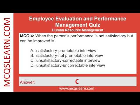 Employee Evaluation and Performance Quiz - MCQsLearn Free Videos