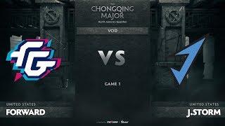 Forward Gaming vs J.Storm, Game 1, NA Qualifiers The Chongqing Major